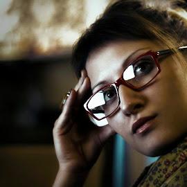 Portrait of Woman by Boban Vranjanac - People Portraits of Women ( glasses, woman, close up, portrait )