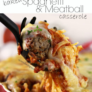 Baked Spaghetti With Meatballs Casserole Recipes