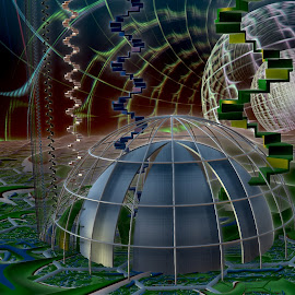 Cheyenne Moon by Rick Eskridge - Illustration Sci Fi & Fantasy ( fantasy, jwildfire, mb3d, fractal, twisted brush )