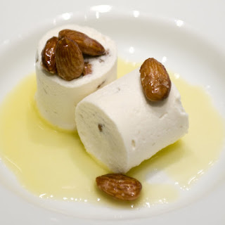 Almond Nougat Parfait With Orange Coulis