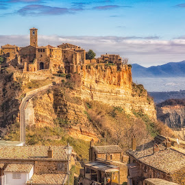 Bagnoregio, Italy by Angela Higgins - Landscapes Mountains & Hills