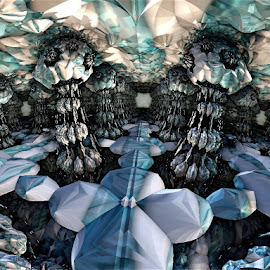 Emandel city of Fractal by Linda Czerwinski-Scott - Illustration Abstract & Patterns ( patterns, abstract art, illustration, fractals, design )