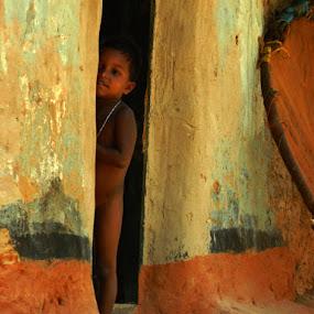 Hide & Seek by Rupam Chakraborty - Babies & Children Children Candids ( children, candid,  )