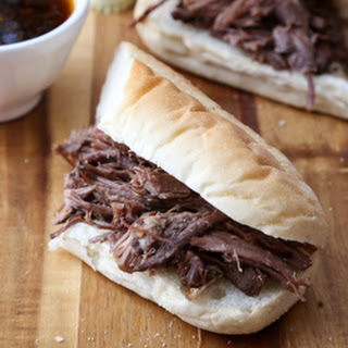 Slow Cooker Guinness French Dip Sandwiches