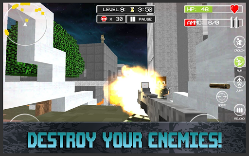 Cube of Duty: Battlefield - screenshot