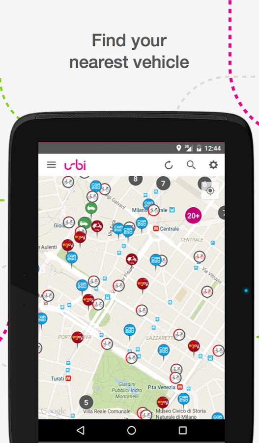 urbi - carsharing aggregator Screenshot 9