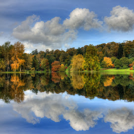 Autumn Reflections by Dave Hayward - Landscapes Waterscapes ( autumn, fall, reflections, lake, colours )
