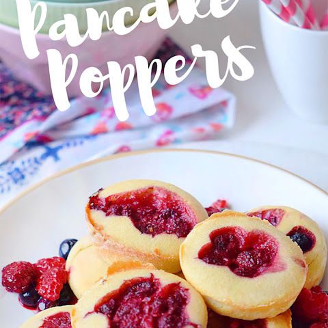 Raspberry Pancake Poppers