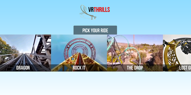 VR Thrills: Roller Coaster 360 screenshot for Android