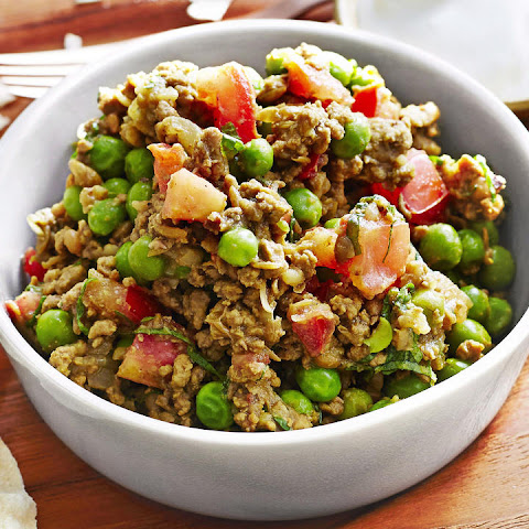 Curried Lamb with Peas and Mint