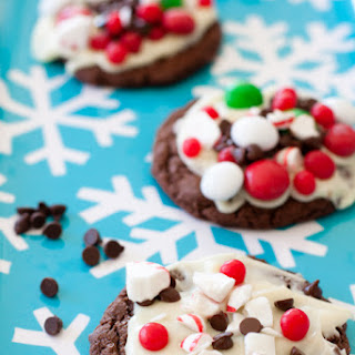 Peppermint Candy Bark Chocolate Cookies