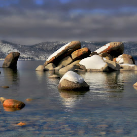 Tahoe Boulders by Brian Blood - Landscapes Waterscapes ( sand, harbor, tahoe, lake, west shore,  )