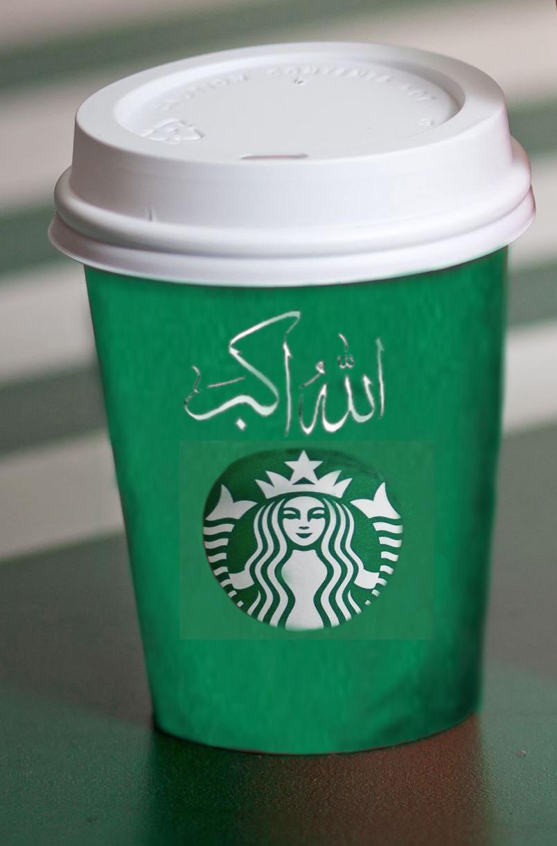"Uproar Over Starbucks' Green ""Allahu Akbar"" Holiday Cups"