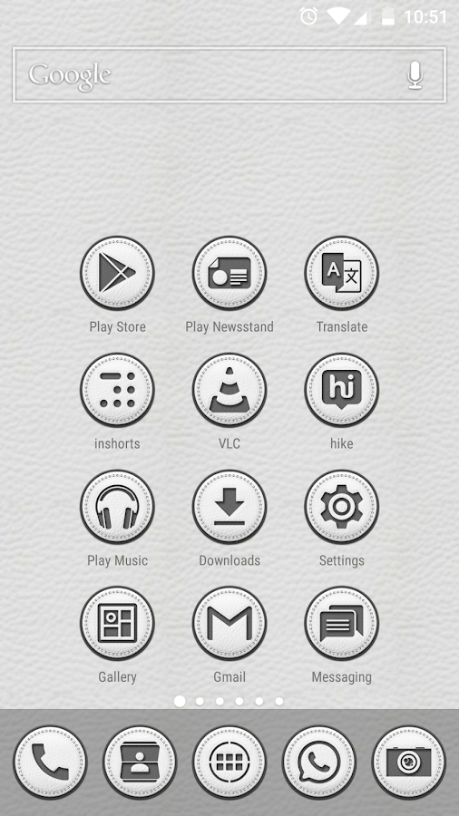 White Leather TSF Shell Theme Screenshot 5