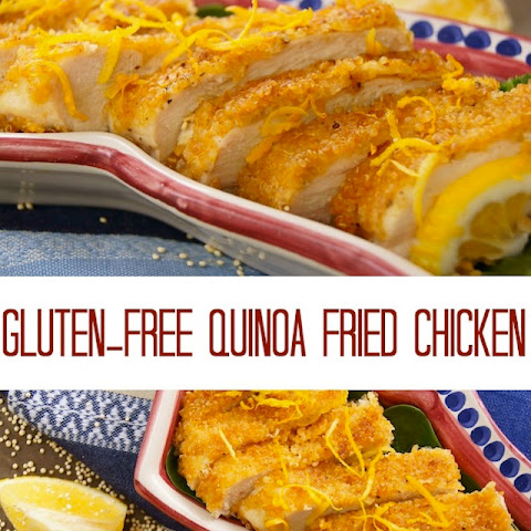 "Gluten-Free Quinoa Crusted ""Fried"" Chicken"