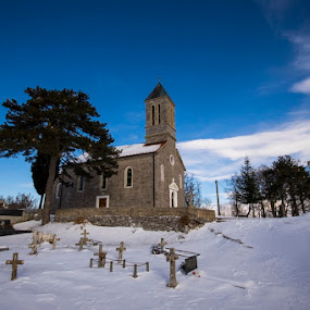 by Nediljko Prološčić - Buildings & Architecture Places of Worship ( winter, village, church, snow, places )