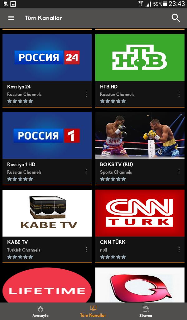 Mobil Android TV Screenshot 0