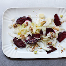 Roasted Beet Salad with Creamy Caraway Dressing