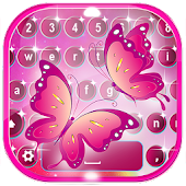 App Pink Butterfly Keyboard Themes APK for Windows Phone