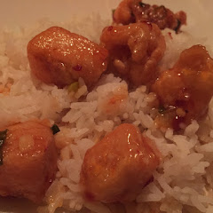 Chang's Spicy Chicken on bed of rice
