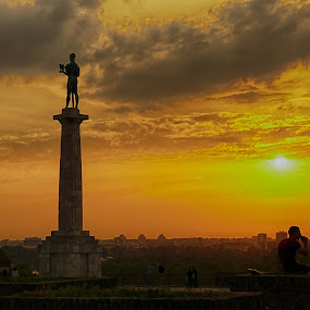 Sky above ... by Dragan Nikolić - City,  Street & Park  Historic Districts (  )