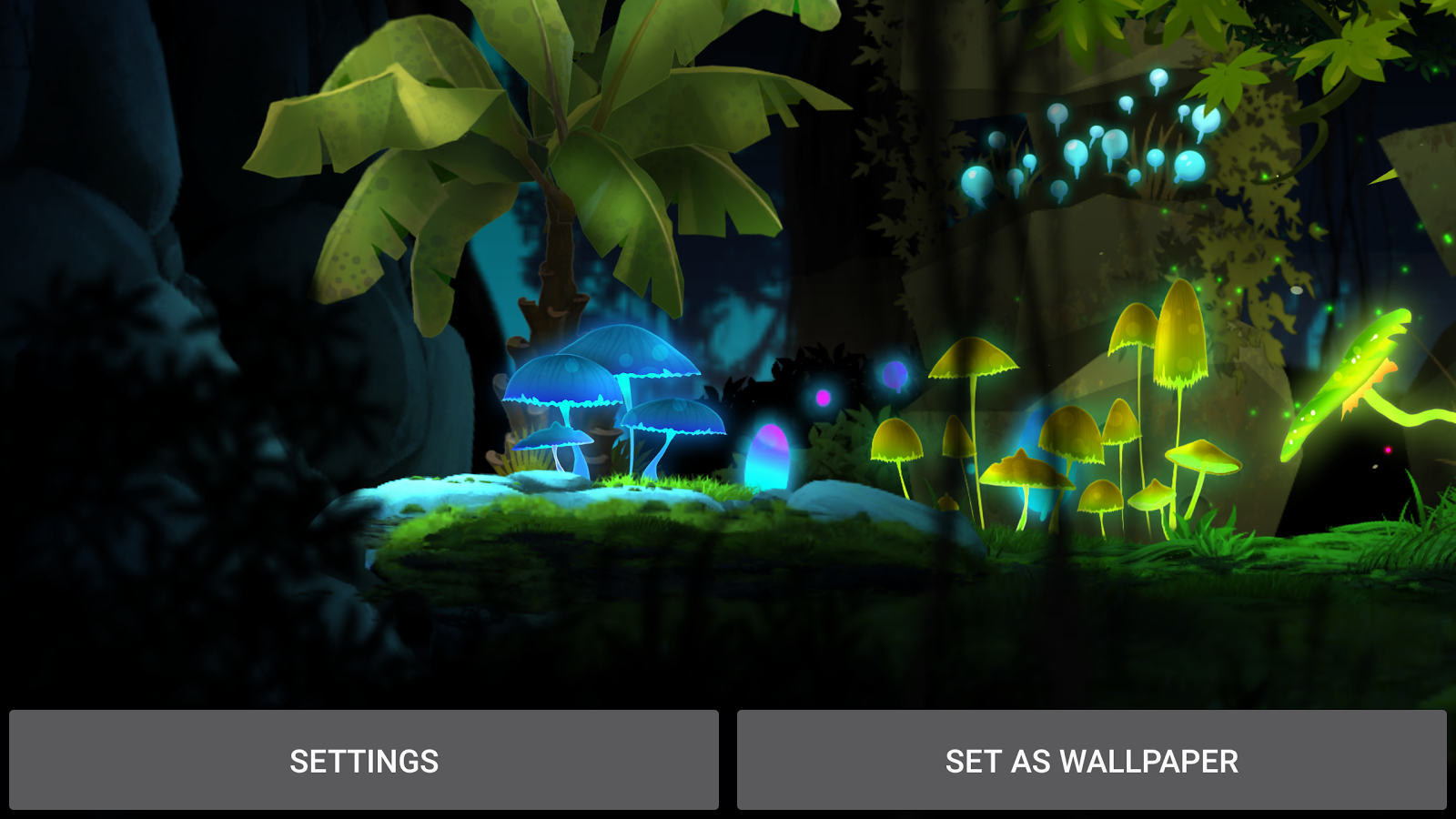 Mushroom Firefly Jungle LWP Screenshot 9