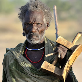 Not happy by Izidor Gasperlin - People Portraits of Men ( senior citizen )