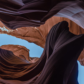 a wide range of colors in Antelope Canyon by Arif Sarıyıldız - Landscapes Caves & Formations ( sky, blue, page, colorful, arizona, brilliant, usa, antelope canyon, colored stones )