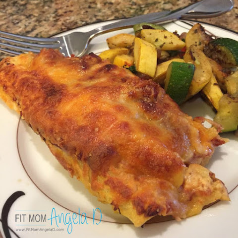 21 Day Fix Cheesy Chicken Enchiladas