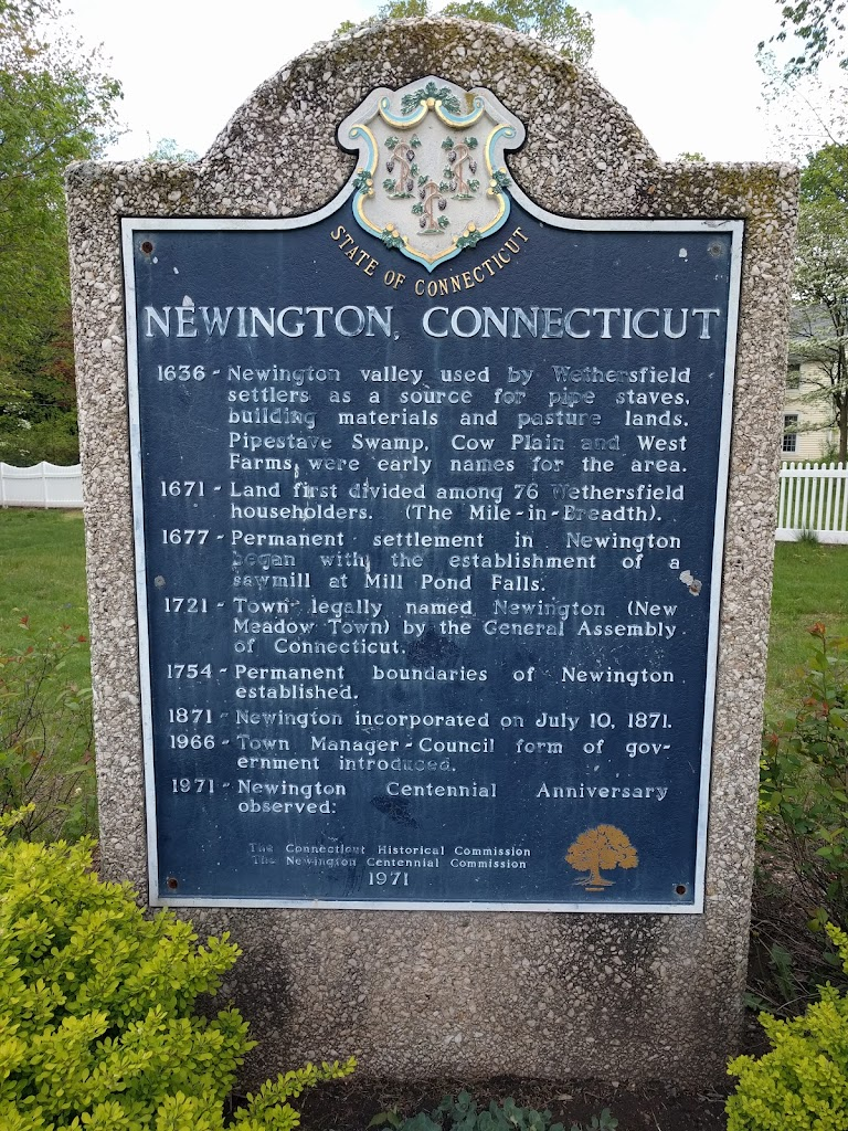 NEWINGTON, CONNECTICUT 1636 - Newington valley used by Wethersfield settlers as a source for pipe staves, building materials and pasture lands. Pipestave Swamp, Cow Plain and West Farms were early ...