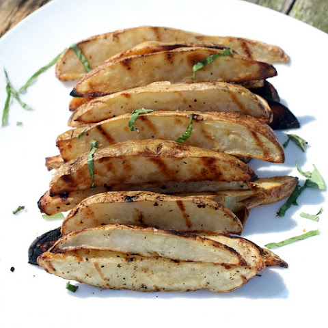 Easy Grilled Truffle Oil Potato Wedges