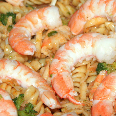 Simple Shrimp and Smoked Salmon Pasta Salad