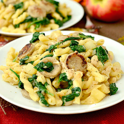 Sweet Apple Chicken Sausage Pasta