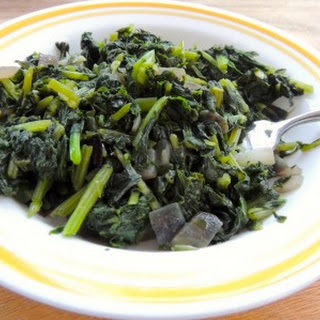 """Fried"" Turnip Greens"