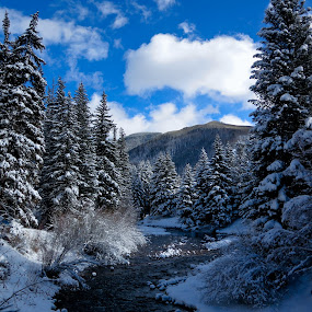 Vail, Colorado by Serge Skiba - Landscapes Mountains & Hills ( rocky mountains, vail, colorado, river )