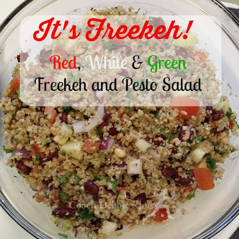 Red, White, and Green Freekeh Salad with Pesto