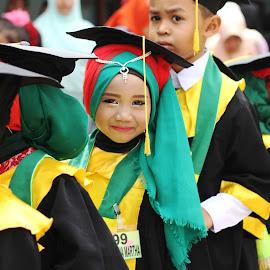 smile by Khairi Went - Babies & Children Child Portraits ( child, school, graduate, children, happiness, kids, smile, graduation )