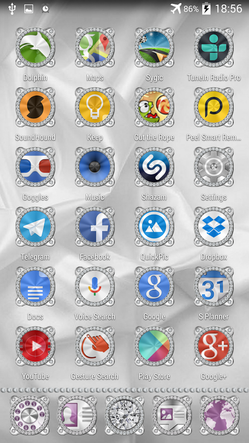 Brilliant Theme Apex Nova ADW Screenshot 1