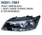 Sonata 2004 Auto Lamp, Headlight, Headlight Black, Headlight Silvery, Tail Corner Lamp, Back Lamp, Rear Lamp, Fog Lamp, Fog Lamp Cover (92402-3K000, 92401-3K000, 92102-3K000, 92402-3K020, 92101-3K000, 92101-3K020, 92402-3K000, 92401-3K000, 92404-3K000, 92403-3K000, 92202-3K000, 92201-3K000, 86512-3K000, 86511-3K000)
