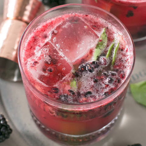 Blackberry Basil Bourbon Smash