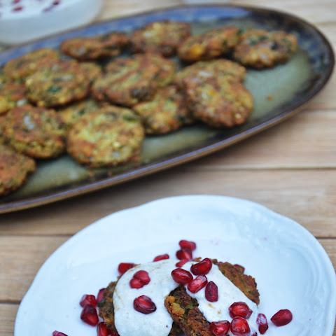 Sprouted Lentil Falafel with Tamarind Yogurt Sauce