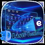 3D Laser Tech Keyboard Icon