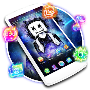 DJ Neon Galaxy Launcher Theme Live HD Wallpapers For PC