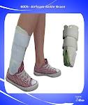Ankle Aircast Stirrup Support Brace With Airfoarm Pads-6005
