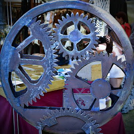 Gear Wheels by Marco Bertamé - Artistic Objects Other Objects ( metal, gear wheel, round, circle )