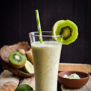 The Green Samurai (Kiwi, Lime, Wasabi, & Ginger Smoothie)