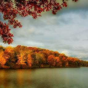 Autumn Lake by Mike Svach - Landscapes Waterscapes ( dreamy, autumn, colors, beautiful, fall, lake )