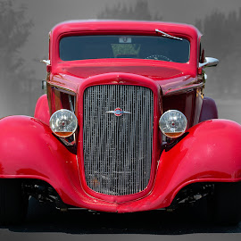 Red Streetrod by Ray Ebersole - Transportation Automobiles ( red, tulsa, car, ok, streed rod )