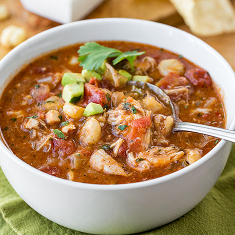 Zesty Mexican Chicken Stew with Sweet Hominy