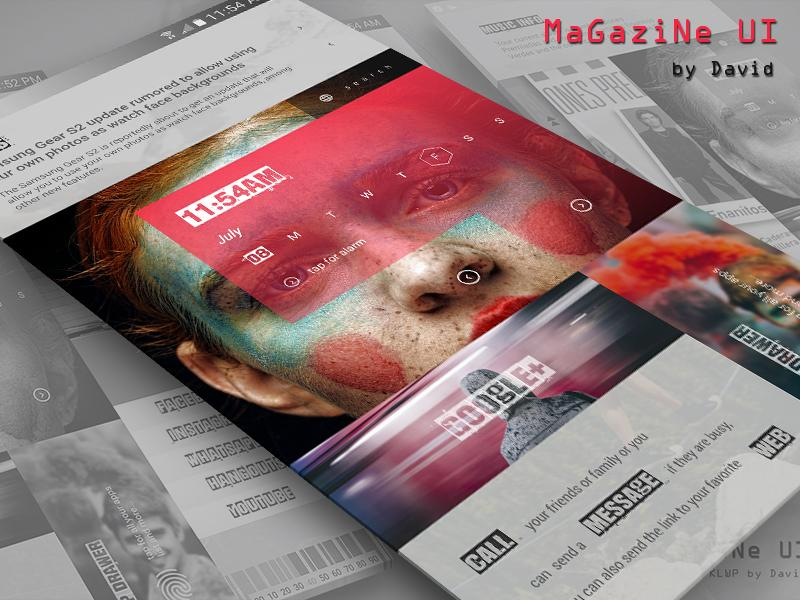 MaGaziNe UI for KLWP Screenshot 4